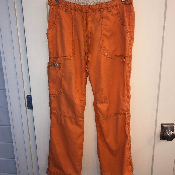 Koi Lindsey cargo scrub pants sz S VGUC orange 701
